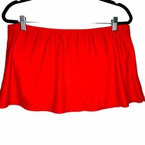 Catalina Orange Slimming Swim Skirt Bottoms 12 14